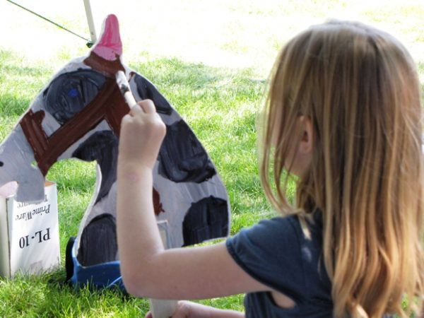 Preparing for the Stick Horse Race!