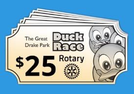 Purchase Duck Race Tickets Here | Duck Race Ticket Five Pack