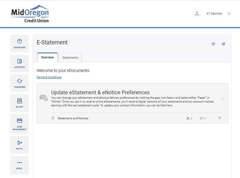 eStatements widget