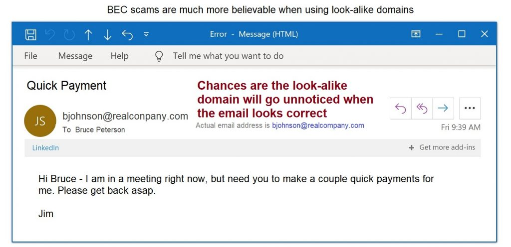 Phishing Scams - Example of whaling email